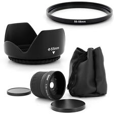 55mm Super Fish Eye 0.18x,Petal Lens Hood for PANASONIC LUMIX DMC-FZ50 DMC-FZ30
