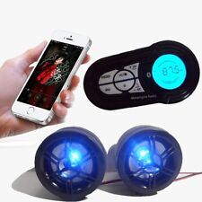 ATV Bike Motorcycle Speakers Audio Sound System Bluetooth MP3 FM Radio Stereo