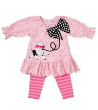 New Girls Boutique Peaches n Cream sz 3T Pink POODLE PARTY Outfit Dress Clothes