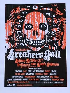 "Freaker's Ball 2008 poster - Denny Schmickle - 18x24"" Hand Screened"