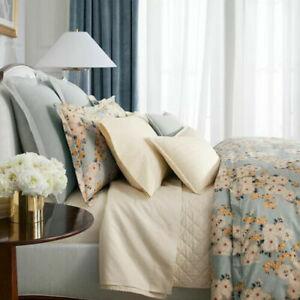 Ralph Lauren Cassie Tallie KING Fitted Sheet Cream Cotton Daisy Floral NEW $185