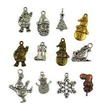Wholesale Mixed 24pcs Christmas Theme Charms Pendants Jewelry Findings