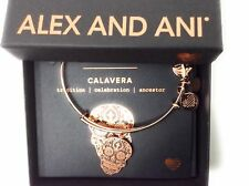 Alex and Ani Calavera Bangle Bracelet Shiny Rose Gold New Tag Box Card