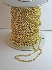 4.5mm BALL CHAIN YELLOW/GOLD BRASS #10 P & L Spl. FREE SHIPPING SOLD BY YARD