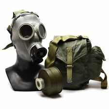 Genuine Soviet era Gas Mask respiratory chemical OD army issue military MC-1 NEW