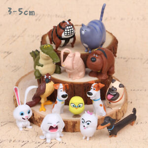 The Secret Life of Pets Cartoon Action Figure Kids Toy 14 PCS Duke Collection