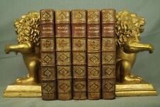 lot  rare antique old leather Bible books French Nouveau Testament 1700-1702