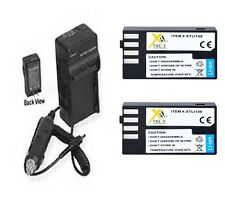 2X D-LI109 Batteries + Charger for Pentax KR K-R K-50 K50 K-30 K30 K-S1 K-500