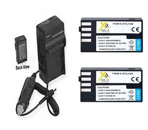 2X D-LI109 Batteries + Charger for Pentax KR K-R K-50 K50 K-30 K30 K-S1 K-500