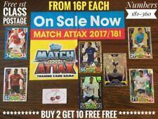 Match Attax Game Single Football Trading Cards 2017-2018 Season