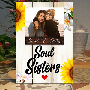 Personalised Best friend Gift, Soul sisters Frame, Soul sisters Picture Plaque