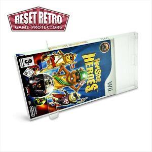 10 x Klarsicht Schutzhüllen für Wii Spiele Verpackung OVP cases 0,3mm protektor