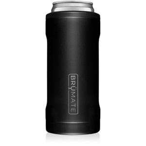 Brumate Hopsulator Slim Can Cooler Tumbler 12 oz Drink Holder Matte Black