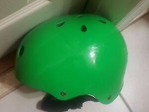 Triple Eight Glossy Multi-Impact Skate/Bike Helmet- Green in color