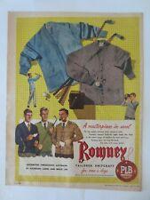 Vintage Australian advertising 1955 ad ROMNEY KNITWEAR golf clothing art