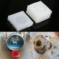 DIY Decor Jewelry Pendant Resin Craft Mold Silicone Round Box DIY Casting Mould