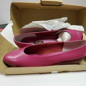 Vintage Valley Lane Women's Fuchsia Pink Leather Dress Loafer Women Shoe 13WW