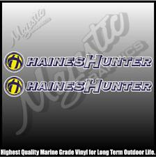 HAINES HUNTER  -  500mm X 70mm X 2 - DECALS - BOAT DECALS
