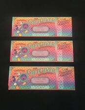 Disney Ephemera 1986 Disneyland Gift Giver Extraordinaire Souvenir Prize Ticket