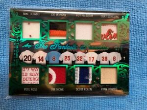2020 Leaf In The Game Used Emerald 2/4, 8 Player Relic-Phillies