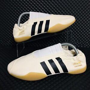 Adidas Taekwondo Slip On (Women's Size 8.5) Cream Fighting Shoes Sneakers