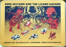KING GIZZARD & THE LIZARD WIZARD Luxembourg 2019 Tour Gig Poster JASON GALEA
