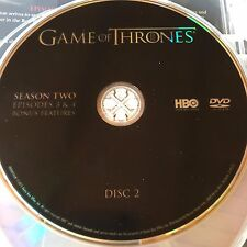 Game of Thrones Season 2 disc 2 Replacement Disc DVD ONLY