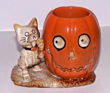 Yankee Candle Boney Bunch 2013 Boney Cat w/ Pumpkin