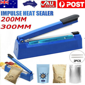 200mm/300mm Impulse Heat Sealer Sealing SAA Machine Electric Plastic Poly Bag