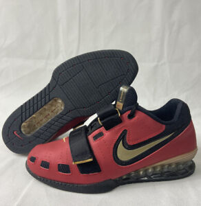 BRAND NEW Nike Romaleos 2 Weighlifting Shoes Gym Red Gold Mens Size 6.5