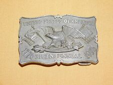 VINTAGE SWISS MISS UNITED STATES OF AMERICA 1776 1976 BICENTENNIAL BELT BUCKLE