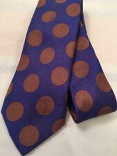 Paul Smith Uomini Cravatta 8cm Lama 100% SETA MADE IN ITALY W18 Blu