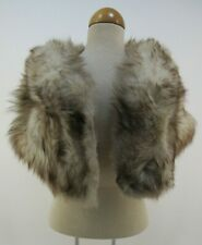 mink fur stole VINTAGE LAZARUS Capelet winter wedding tan brown shawl wrap 1960s