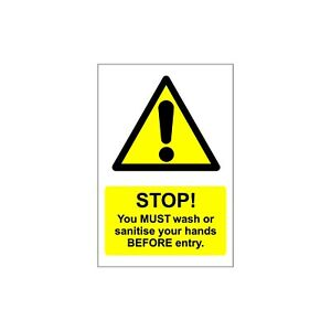 Wall decals stickers 2m social distancing STOP & Sanitising Wash hands, shops