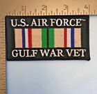 U.S. AIR FORCE GULF WAR VETERAN PATCH with SOUTHWEST ASIA SERVICE MEDAL RIBBON