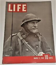 March 11, 1940 LIFE Magazine Complete Historical old ads + FREE SHIPPING Mar 3