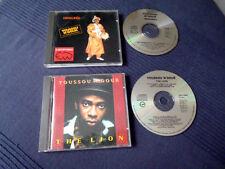 2 CDs Youssou N'Dour Immigrés (1988) & The Lion (1988) Dakar Senegal Africa