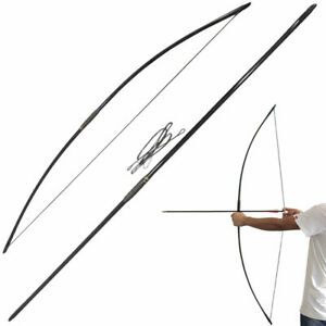 "67"" Archery Traditional Longbow 25-70lbs Straight Bow Target Shoot Hunting RH LH"