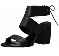 Rebecca Minkoff Women's Christy Heeled Leather Sandal In Black Size 8