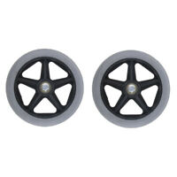 """2pcs Solid Wheelchair Front Castor Wheels Caster Replacement Part Tool 6"""""""