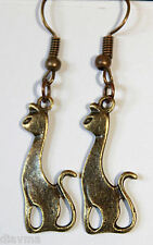 bronze cat kitty feline pet siamese earrings