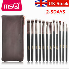 UK DELIVERY MSQ 12Pcs Eyes Brushes Kit Rose Gold Synthetic Makeup Brushes Sets