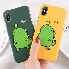 For Apple iPhone XS/X/6s 8/7/6 Plus Cute Dinosaur Pattern Slim Hard Case Cover