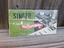 Vintage SINGER Sewing Machine Co. BUTTONHOLER Instruction Booklet No. 160506