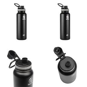 Takeya Originals Insulated Stainless Steel Water Bottle, 40 Oz, Black