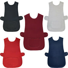 More details for women tabard ladies tabbard apron kitchen cleaning chef bar overall workwear uni