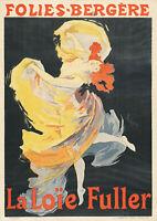"Folies Bergere La Loie Fuller Jules Cheret Friends- 17""x22"" Fine Art Print-00273"