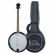 Irish Banjo with Bag, Koda FBJ2419 Tenor Banjo for Beginner, 4 String 19 Fret