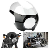 "5.75 5 3/4"" Headlight Fairing Windshield For Harley Dyna Cafe Racer Racing Viper"