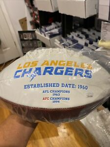 Natrone  Means signed white panel charger football JSA Certified